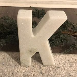 Other - Marble looking, heavy, Letter K